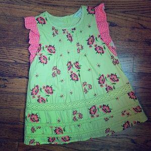 Matilda Jane sleeveless tunic top, girls size 6